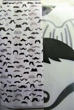 Novelty Shower Curtain MUSTACHE Mania Black & White Opaque Moustache Mustaches