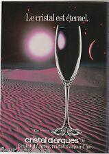 Publicité de presse Cristal d'Arques  Flûte Invitation 1986 French press ad