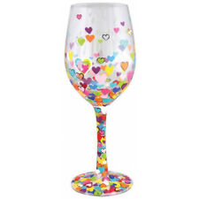 Lolita Hearts-A-Million Hand-Painted Heart 444ml Wine Glass - Boxed