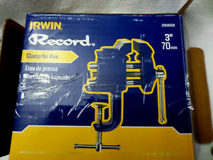 IRWIN Record Woodworking Clamp On Vise, 3-Inch / 70mm (226303ZR)