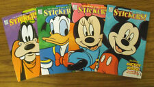 LOT OF 4 DISNEY COLOR & STICKER BOOKS - 4 & UP            #ZDP-CB169