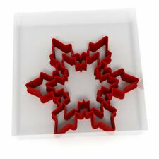 Snowflake Cookie Cutter Set Of 2 Biscuit Dough Icing Shape Christmas UK 1