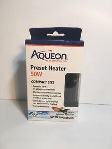 Aqueon Fully Submersible Tropical Aquarium Preset Heater 50 Watt To 20 Gallons