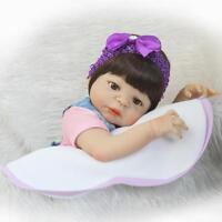 "new Life like Realistic Full Silicone Vinyl body gift 22"" Reborn Doll Girl Baby"
