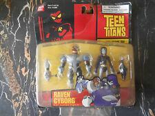 figurine teen titans raven cyborg bandai figure