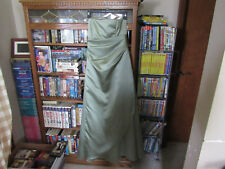 Formal Gown Prom wedding Bari Jay Full Length sage green Size 5/ 6 fits small