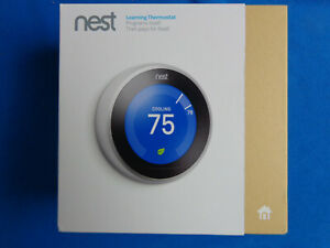 Nest 3rd Gen. Learning ThermostatGoogle T3007ES - Stainless Steel 3