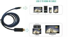 4K USB C to HDMI Adapter Cable Thunderbolt 3 Port 6ft Macbook PC to TV Monitor
