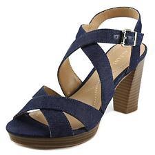 Buckle Block Slides Sandals for Women