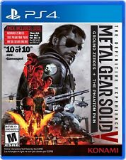PS4 Metal Gear Solid 5 V The Definitive Experience + Zero + Online (US Version)