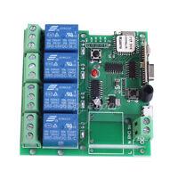5V 4-CH Inching Self-Lock Interlock Wifi Relay Module For Cellphone APP Control