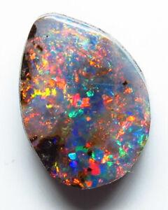 Australian Boulder Opal 3.10ct Queensland Natural Stone