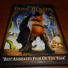 Puss in Boots (DVD, Widescreen 2012) Animated Used Antonio Banderas
