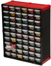 Small Parts Storage Tool Organizer Wall Mount 60-Compartment Clear Drawer Labels