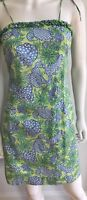 Lilly Pulitzer Shift Dress Green Blue Crab Lobster Cotton Size 2 rarely worn.