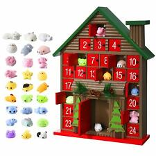 Christmas Wooden Advent Calendar For Kids With 25 Toys Stuffers, For Boys Girls