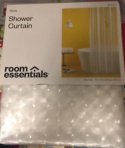 Clear Cubitz Room Essentials PEVA Shower Curtain-New