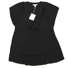 a Glow Maternity Black Satin Top Shirt Extra Large XL Empire Waist