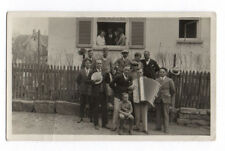 PHOTO ANCIENNE Musicien Musique Accordéon Groupe Banjo 1932 Drôle