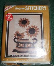 Summer Floral Sunflower Stitchery Kit 1980 By McNeill Wall Hanging/ Pillow NIP