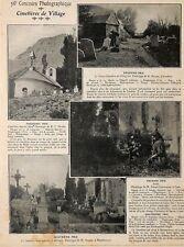 """CIMETIERES CEMETERIES """" ALPES / CHINGFORD / ST LAURENT DE BELZAGOT """" ADP 1906"""