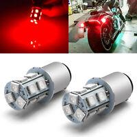 Red 1157 7528 LED Bulbs For Harley Davidson Tri Glide Rear Turn Signal Light