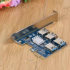 PCI-E 1 to 4 Ports PCI Express 16X Slot Power Expansion Riser Card Adapter Board