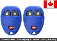 2 New Replacement Keyless Remote Key Fob Blue For Cadillac Chevrolet GMC Buick