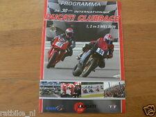 2009 DUCATI CLUBRACES CIRCUIT ASSEN PROGRAMMA,DUCATI CLUB NEDERLAND