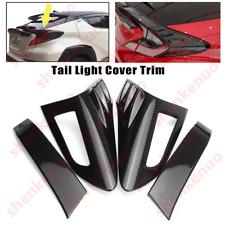 Fit Toyota C-HR 2016-18 Carbon Fiber Style Rear Back Light Tail Lamp Cover Trim