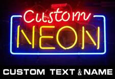 CUSTOM NAME Designed Real Neon Sign Beer Bar Pub Light Home Decor Birthday Gift