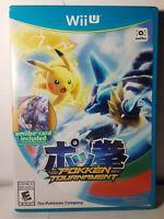 Pokken Tournament (Nintendo Wii U , 2016) Complete~W/ Original Case & Manual CIB