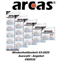 Arcas Knopfzellen CR2032 DL2032 - 5004LC - E-CR2032  Auswahl-Angebot MHD 03-2025
