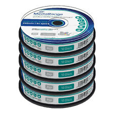 50 MediaRange Dual Layer DVD+R Double DL 8x Full Face Printable Blank disc MR468