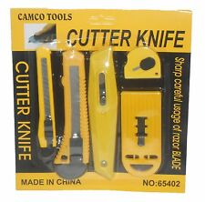 Utility Cutter Set Snap-Off Razor Knife Scraper Carton Box Knife Envelope Opener