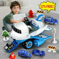 Airplane Car Toys Kit Transport Cargo Airplane With Fire truck Vehicles DIY Toy