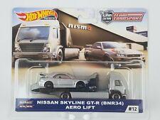 2019 Hot Wheels Team Transport Car Culture Nissan Skyline GT-R & Aero Lift