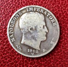 Italie -Royaume d'Italie - Napoléon Ier - Rare monnaie de 2 Lire 1812 V  Venise