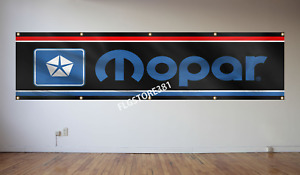 Mopar Banner 2X8ft Classic Sign Flag Banner Dodge Chrysler Plymouth Man Cave