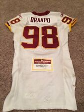 Brian Orakpo 2009 Game Worn/Used Redskins Jersey Photo Matched!