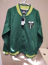 New Adidas MLS Portland Timbers Green Lifestyle Jacket Mens SZ Large 710FA