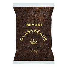 Miyuki Perline Semi All'ingrosso Taglia 11/0 MARRONE TRASPARENTE 250g (M80/3)
