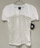 Schutt Football Practice Jersey Shirt Mesh White Short Sleeve Mens Size M New