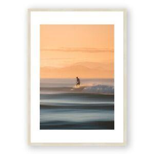 Byron Bay Surfer Framed Print , Sunset Wall Art , Australian Photography, A1