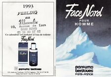 AB203 petit calendrier poche Parfum BERDOUES FACE NORD 1993 offert FEELING REIMS