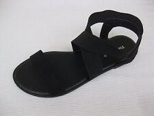 Pierre Dumas Womens Shoes $42 Babbie-4 Black Stretch Fabric Ankle Sandal 10 M