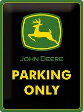 Blechschild 30 X 40 Cm - John Deere Parking Only