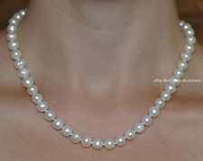 Real Freshwater Pearl Necklace Sterling Silver Clasp(Ball Shaped)