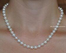 Vero Collana Di Perle D'Acqua Dolce Argento Sterling fibbia a forma di palla ()