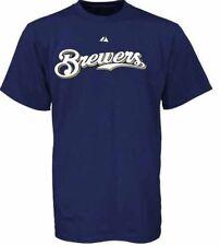 CHRIS NARVESON #38 MILWAUKEE BREWERS MLB Majestic Baseball T-Shirt Jersey M $30